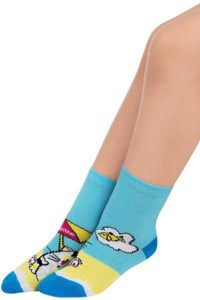 Носки для девочки SAK-1428 голубой Charmante, Италия
