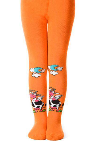 колготки charmante для девочки, оранжевые