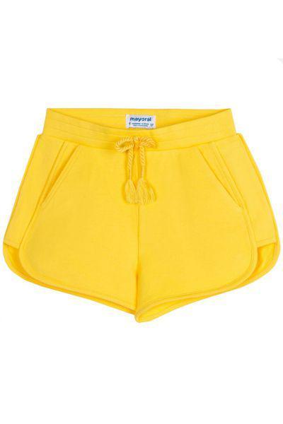 шорты mayoral для девочки, желтые