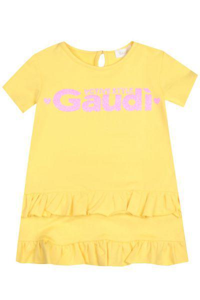 туника gaudi для девочки, желтая