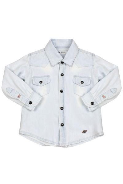 Купить Рубашка, Byblos, Голубой, Хлопок-98%, Эластан-2%, Мужской
