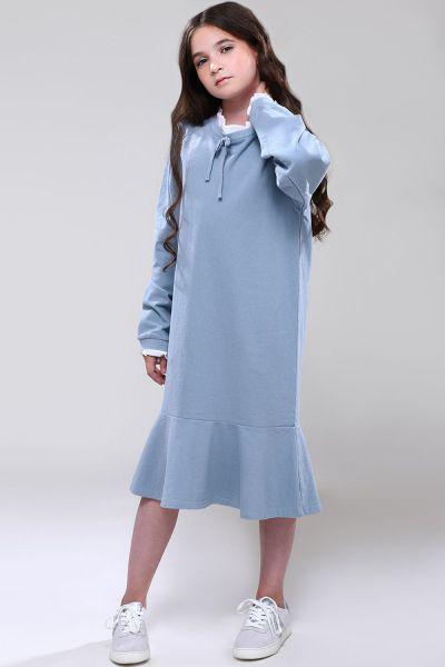 Платье, Noble People, Голубой, Хлопок-100%, Женский  - купить со скидкой