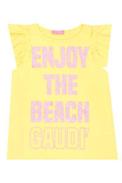 футболка gaudi для девочки, желтая