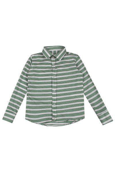 рубашка street gang для мальчика, зеленая