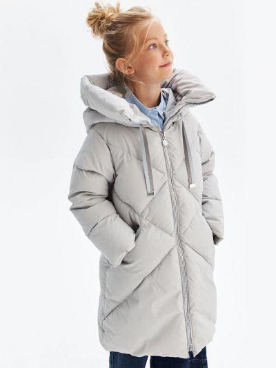 Купить Пальто, Pulka, Серый, Полиэстер-100%, Женский