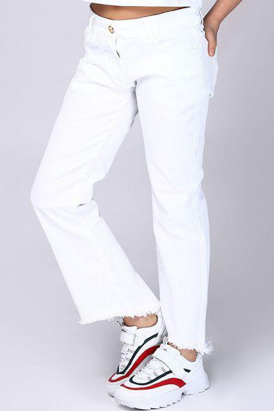 брюки gaialuna для девочки, белые