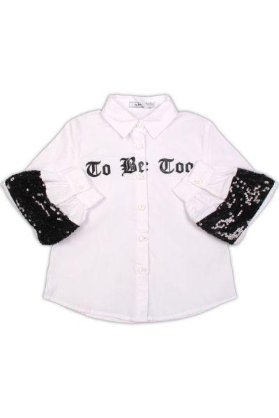 Купить Блуза, To Be Too, Белый, Хлопок-100%, Женский