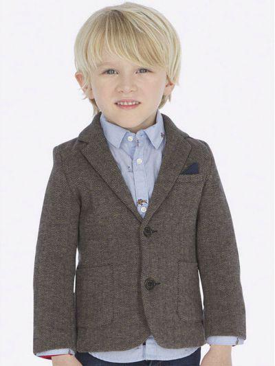 пиджак mayoral для мальчика, коричневый