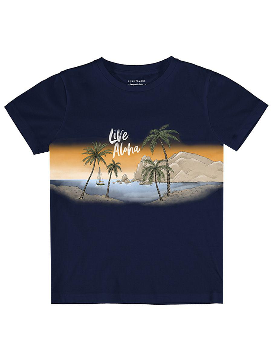 футболка mayoral для мальчика, синяя