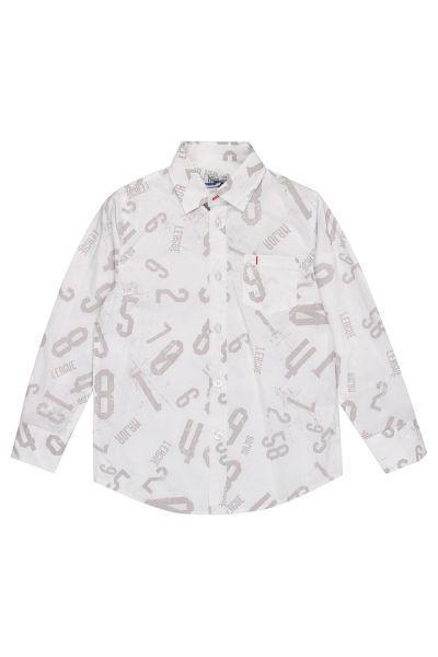 Купить Рубашка, Y-clu', Белый, Хлопок-90%, Эластан-10%, Мужской