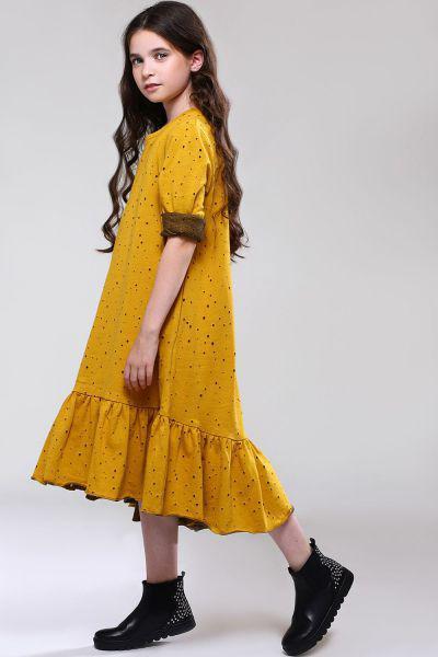 Купить Платье, Noble People, Желтый, Хлопок-80%, Полиэстер-20%, Женский