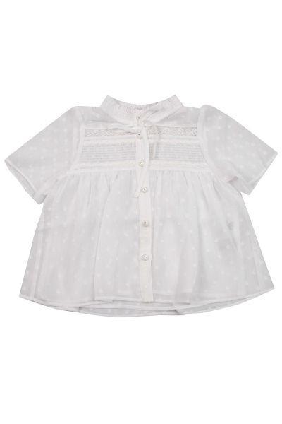Купить Блуза, To Be Too, Белый, Полиэстер-100%, Женский