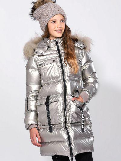 Купить Пальто, Noble People, Бежевый, Нейлон-100%, Женский