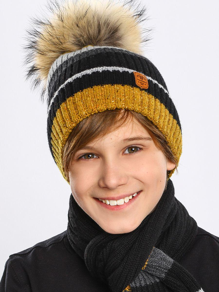 шапка noble people для мальчика, желтая