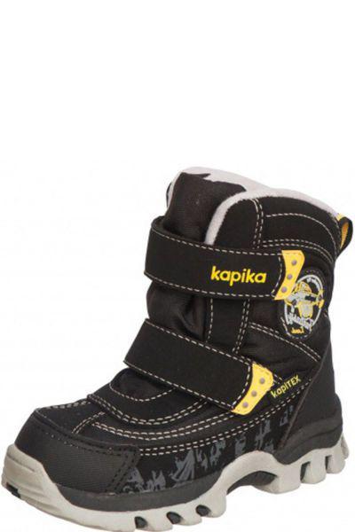Ботинки для мальчика 41175-1 чёрный Kapika, Российская Федерация