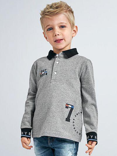 лонгслив mayoral для мальчика, серый