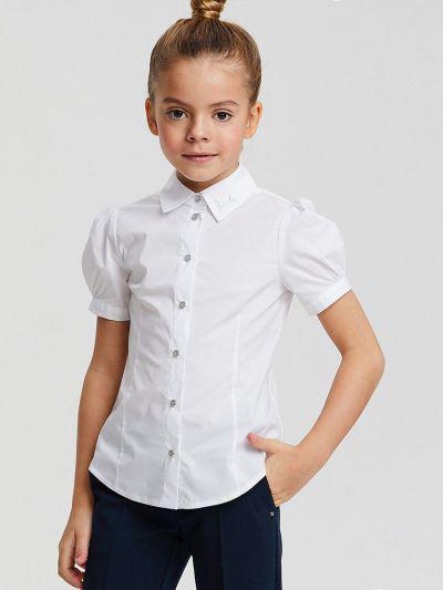Блуза, Silver Spoon, Белый, Хлопок-97%, Эластан-3%, Женский  - купить со скидкой