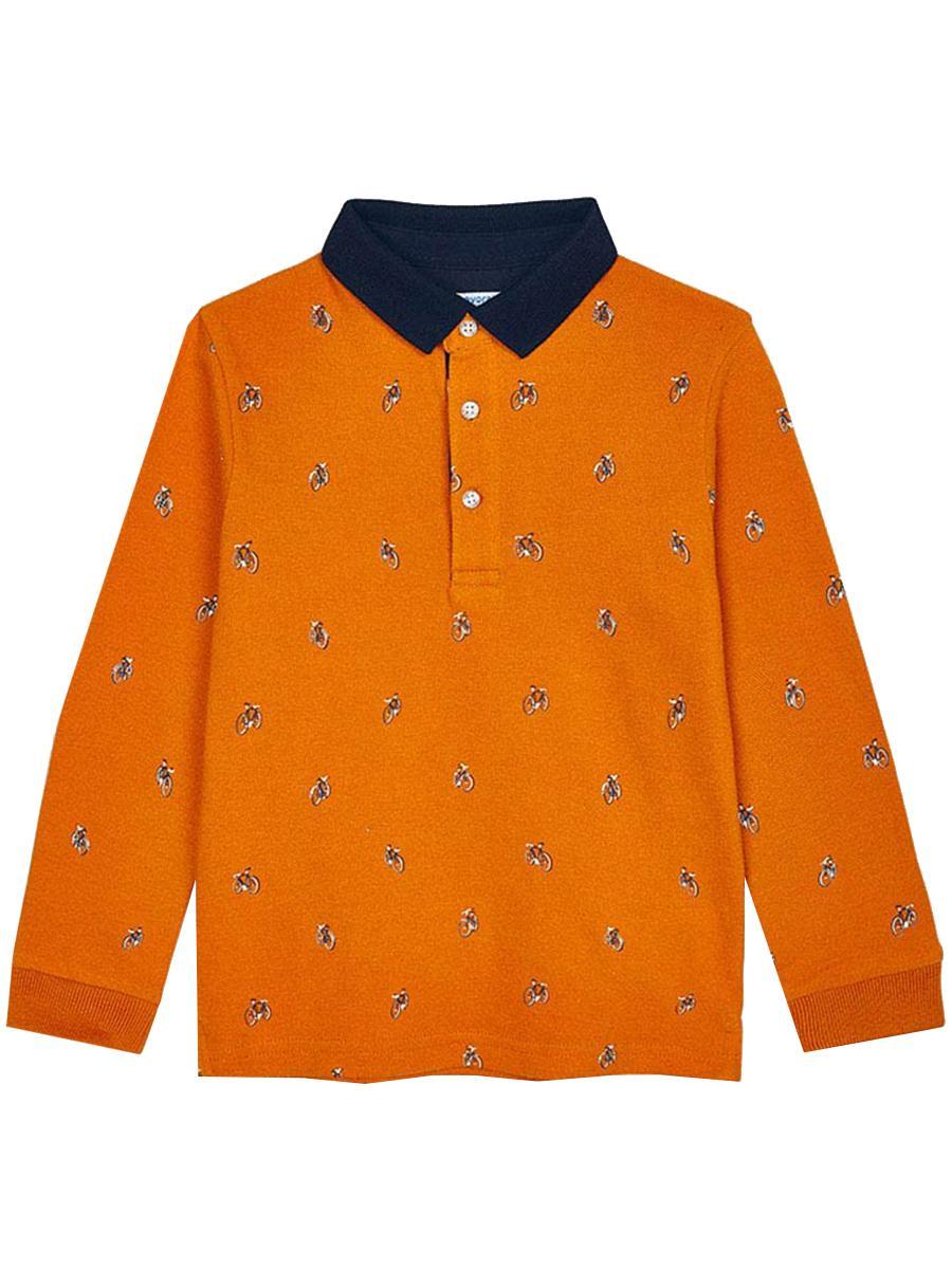 лонгслив mayoral для мальчика, оранжевый