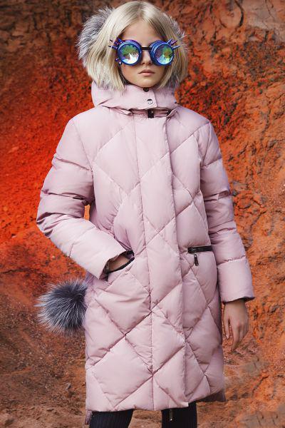 Пальто, Noble People, Розовый, Полиэстер-100%, Женский  - купить со скидкой