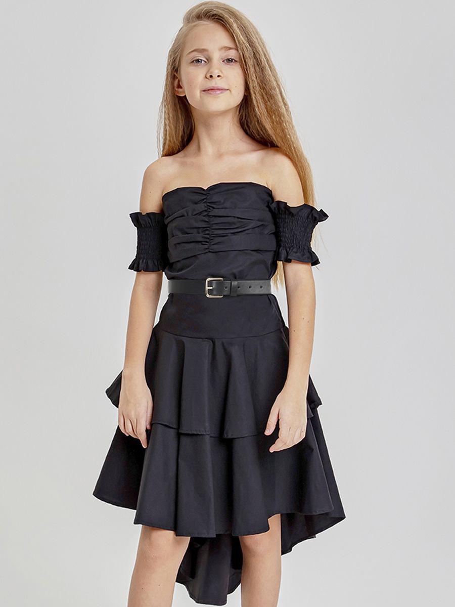 платье to be too для девочки, черное