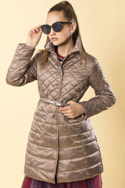 Купить Пальто, Silver Spoon, Коричневый, Нейлон-100%, Женский