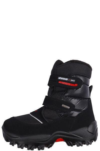 ботинки skandia для мальчика, черные