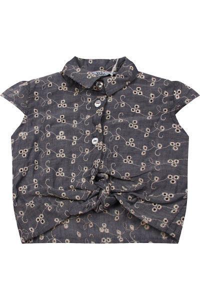 Купить Блуза, Y-clu', Серый, Хлопок-100%, Женский