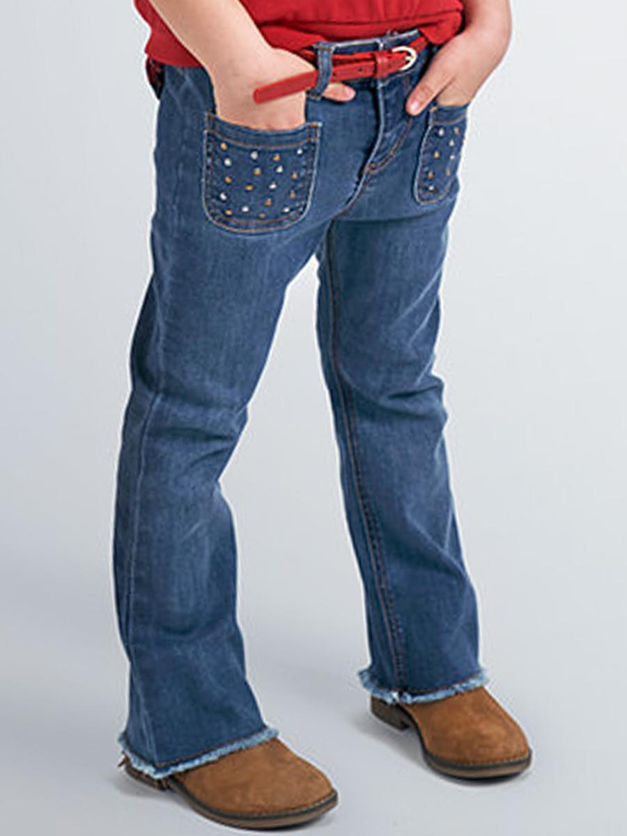 джинсы mayoral для девочки, голубые