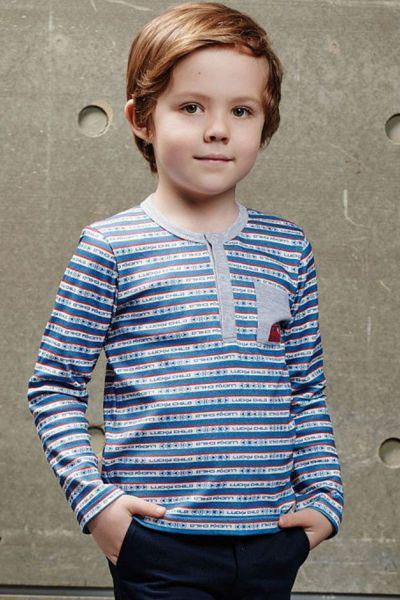 лонгслив lucky child для мальчика, разноцветный