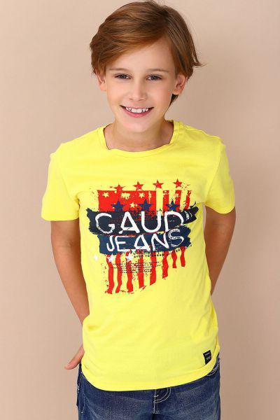 футболка gaudi для мальчика, желтая