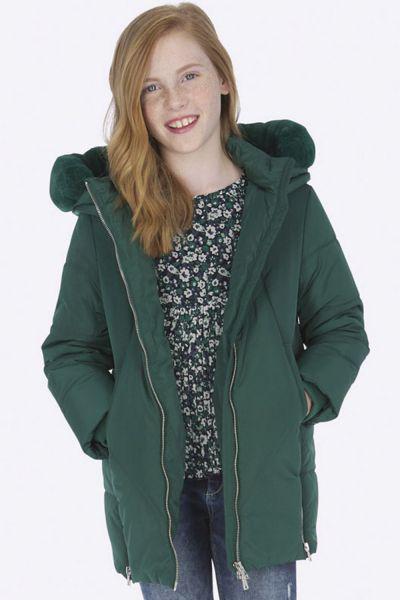 Купить Пальто, Mayoral, Зеленый, Полиэстер-100%, Женский