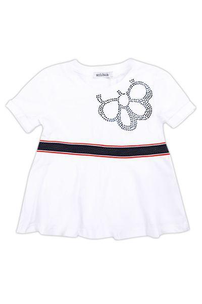 футболка meilisa bai для девочки, белая