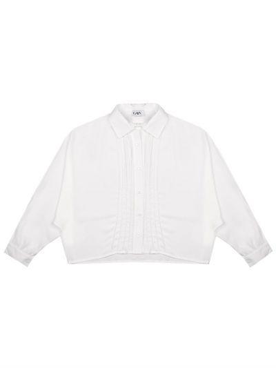Купить Блуза, Gaialuna, Белый, Вискоза-100%, Женский