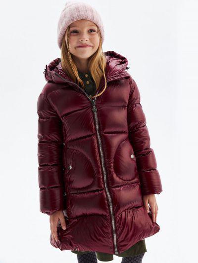 Купить Пальто, Pulka, Красный, Нейлон-100%, Женский