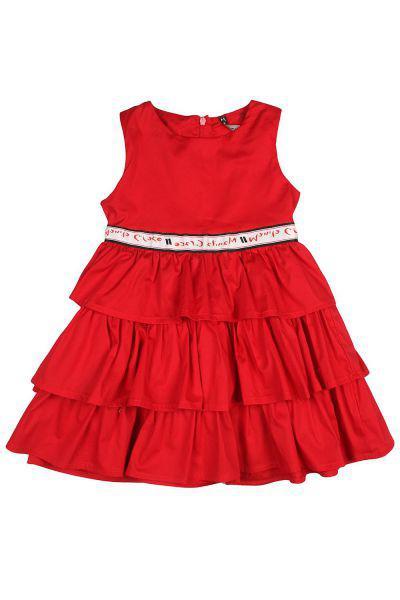Платье, Manila Grace, Красный, Хлопок-98%, Эластан-2%, Женский  - купить со скидкой