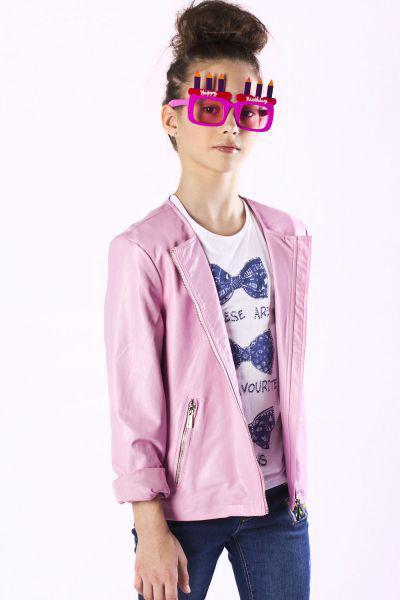 Купить Куртка, Y-clu', Розовый, Полиуретан-100%, Женский
