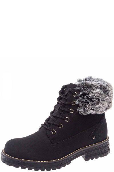 Купить Ботинки, Keddo, Черный, Искусственный нубук-100%, Женский