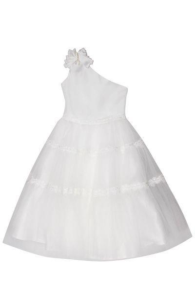 платье y-clu' для девочки, белое