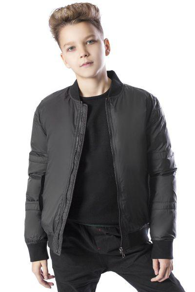 куртка street gang для мальчика, черная