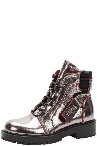 Купить Ботинки, Betsy, Серый, Кожа искусственная-100%, Женский