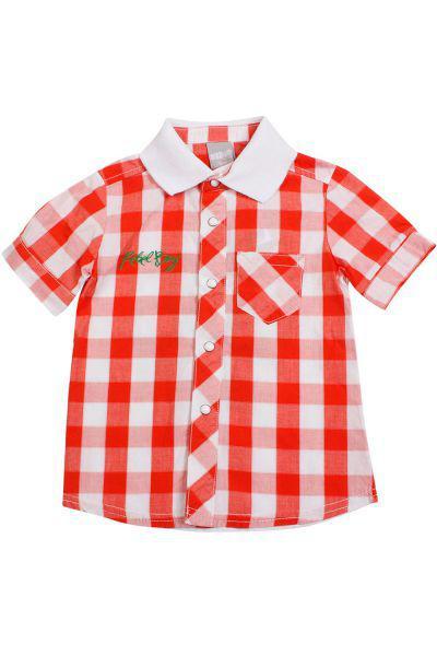 Рубашка, Trybiritaly, Красный, Хлопок-100%, Мужской  - купить со скидкой