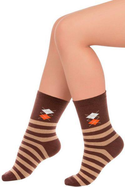 Носки для мальчика SNP-1452 коричневый Charmante, Китай (КНР)