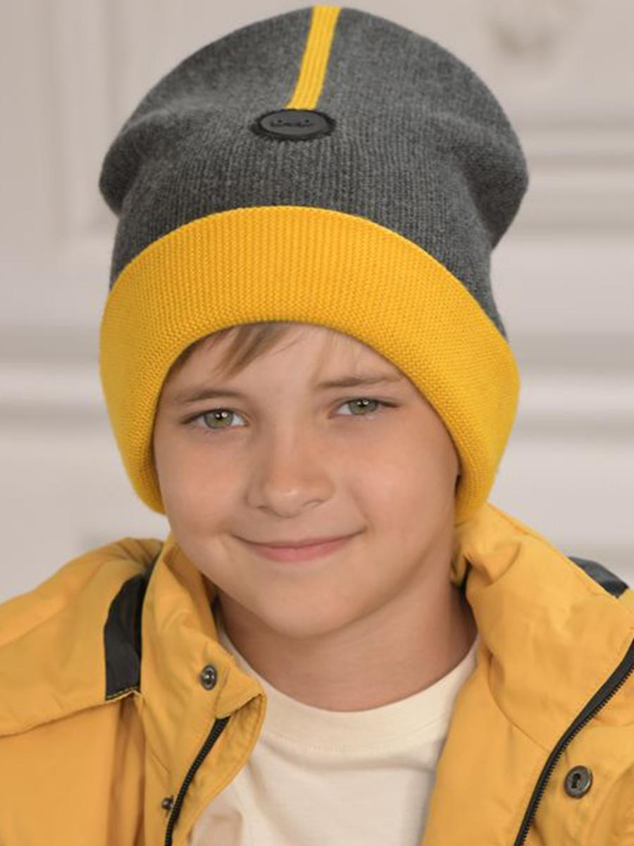 шапка dan&dani для мальчика, серая