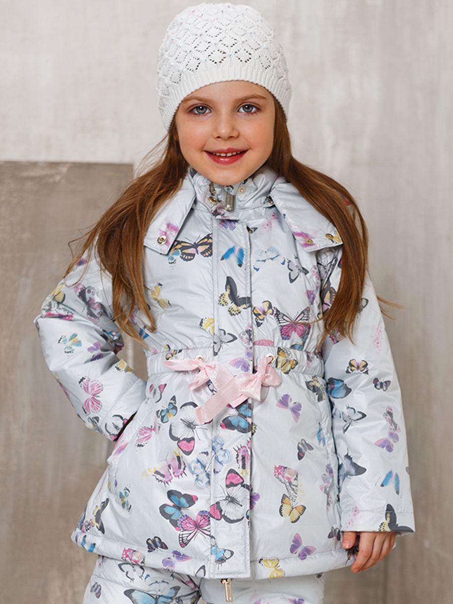 куртка noble people для девочки, серая