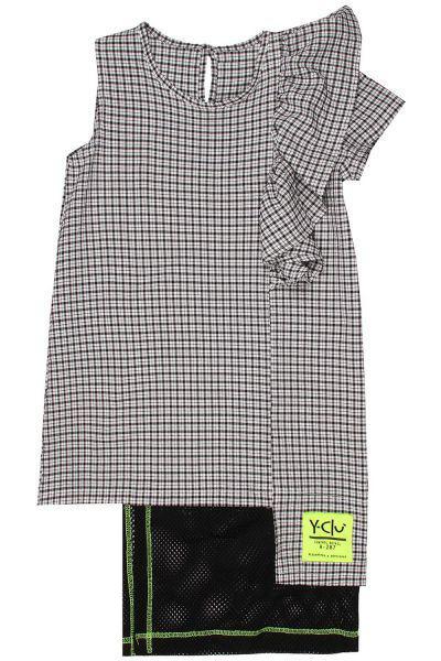 Купить Платье, Y-clu', Разноцветный, Хлопок-96%, Эластан-4%, Женский