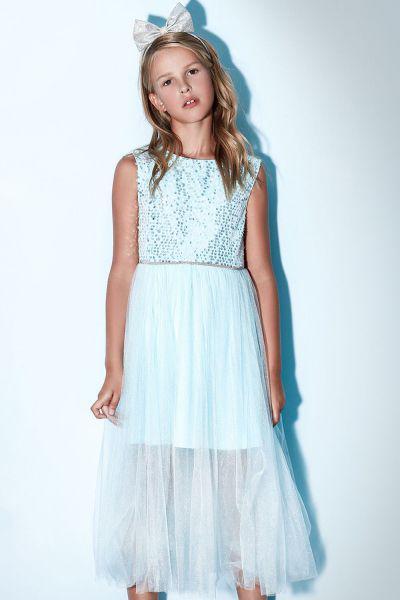 Купить Платье, Noble People, Голубой, Полиэстер-100%, Женский