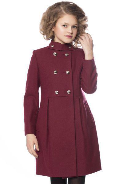 Пальто, Mamma Mila, Красный, Шерсть-60%, Полиэстер-40%, Женский  - купить со скидкой