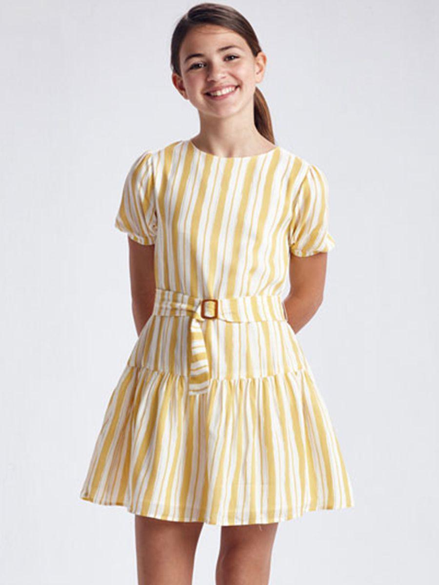 ремень mayoral для девочки, желтый