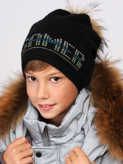 шапка noble people для мальчика, черная