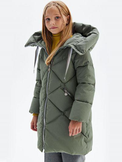 Купить Пальто, Pulka, Коричневый, Полиэстер-100%, Женский